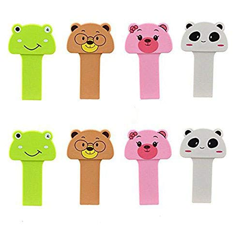 CiCy 8pcs Toilet Seat Pad Cover Lifter -lovely portable cartoon animal toilet Seat lifter handle Hygiene clean lifter Raise lower Lid the Clean Way - Avoid Touching-Cleaner & Healthier