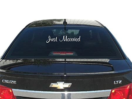 Just married 20x7 inches WHITE