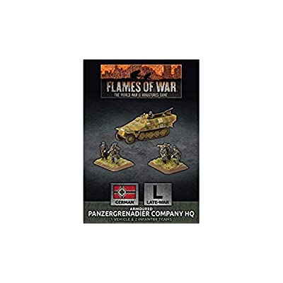 Flames of War: Late War: German: Panzergrenadier Company HQ (GBX68): Toys & Games