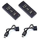 2 PCS 7.6V 550mah LiPo Battery and 2 pcs Charger Cable for Hubsan H507A X4 STAR Quadcopter