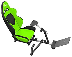 Openwheeler Advanced Racing Simulator Seat Blue Driving Simulator Gaming Chair with Gear Shift Mount from OpenWheeler