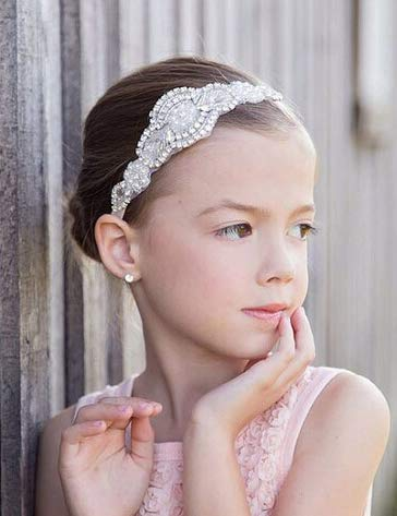 Missgrace Flower Girl Crystal Rhinestones Headband Wedding Hair Accessories Baby Girl Hair Jewelry
