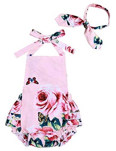 Yoveme Infant Baby Girl Clothes Cute Floral Print