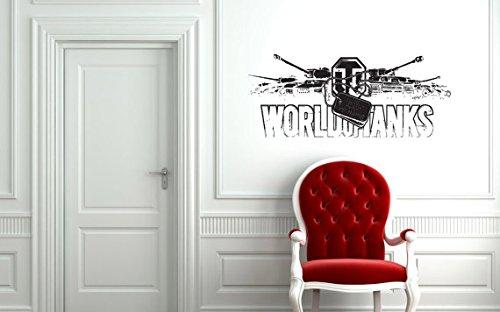 Wall Vinyl Decal Art Home Interior Sticker any Room WOT World of Tanks Logo Military Technics Army 1635