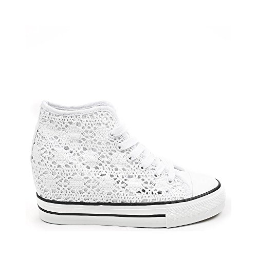 Ideal Shoes Kania Crochet Baskets en Compensées wFqrgUw