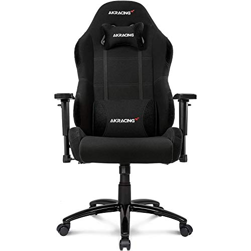 AKRacing Core Series EX-Wide Gaming Chair with High Backrest, Recliner, Swivel, Tilt, Rocker & Seat Height Adjustment Mechanisms, 5/10 Warranty - Black AKRacing