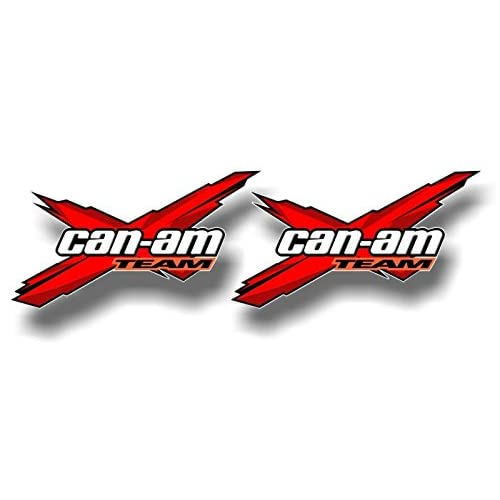 """New 2 Team Can-Am Racing RED 5.5'' Decals Graphics Renegade Snorkel Kit Quad ATV Trailer Vinyl Stickers ((2) 3""""x 5.5"""" Decals, Red) for sale"""