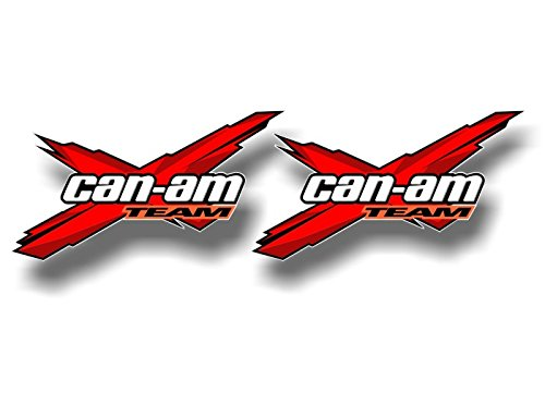 Decal Graphics Kit (2 Team Can-Am Racing RED 5.5'' Decals Graphics Renegade Snorkel Kit Quad ATV Trailer Vinyl Stickers ((2) 3