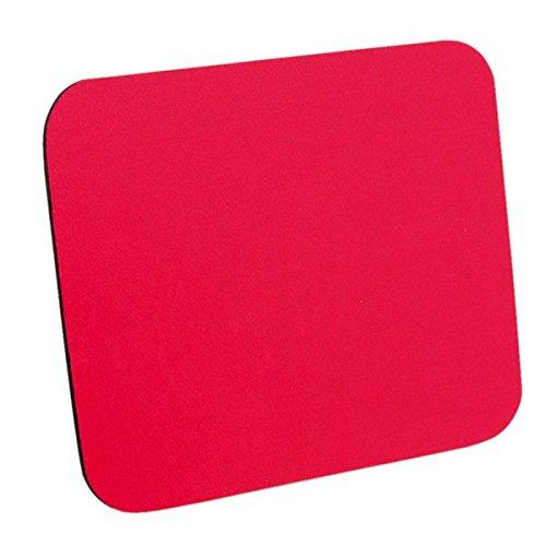 ROLINE 18.01.2042 Rojo alfombrilla para ratón - Alfombrilla de ratón (Rojo, Monótono, Nylon, 253 mm, 220 mm, 7 mm)