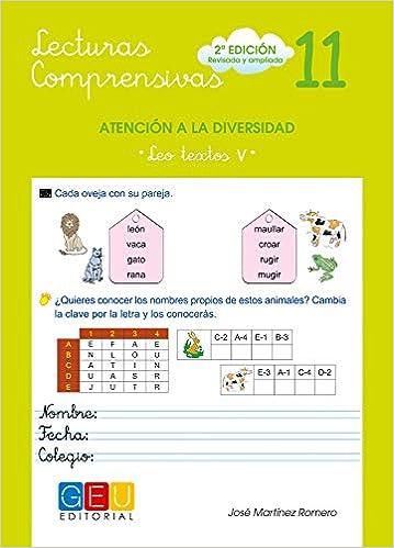 Lecturas Comprensivas 11 - Leo Textos V por José Martínez Romero epub