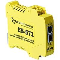 Brainboxes - Device Server - 10MB LAN, 100MB LAN, RS-232, RS-422, RS-485 (ES-571)