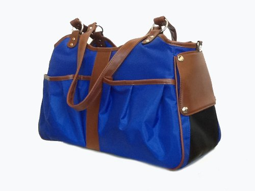 Petote Metro Dog Carrier Bags with 2 Open Pockets, Cobalt Blue, Large