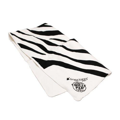Frogg Toggs Frogg-Edelic Chilly Pad, 32.5 x 12.25-Inch, Black and White Zebra