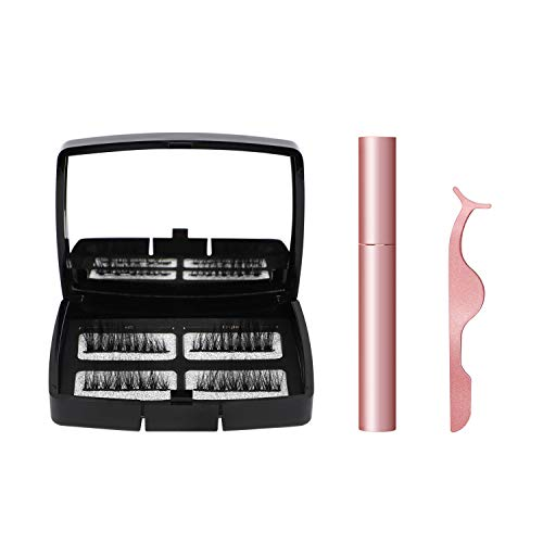 Magnetic Eyelashes Set, Magnetic Eyeliner 3D Reusable Eyelashes Eyeliner with Applicator