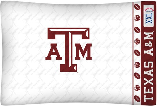 NCAA Texas A&M Aggies Micro Fiber Pillow Case Logo