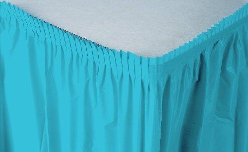 Creative Converting Plastic Table Skirt, 14-Feet, Bermuda Blue