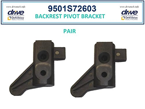 Backrest Pivot Bracket (1 pr) - 2M Serial # Walkers - Drive Models: RTL10261 (2M)