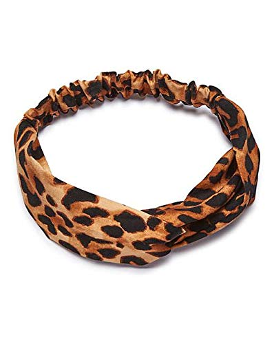 Headband Hair Bands Twisted Boho Turban Yoga Sports Running for Women Girls Holiday Fashion Gifts Headwrap Leopard Animal Print Cute Stretchy Hair Accessories