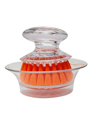 Orange Mini Dish (Casabaella Mini Scrub Brush With Holder, Orange, 3-Pack)