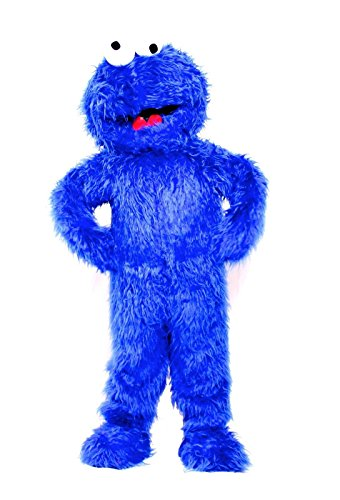 Cookie Monster Blue Mascot Costume Sesame Street Fancy Dress Adult (Animal Muppet Costume Head)
