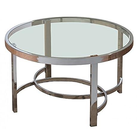 Groovy Amazon Com Stratus Metal And Glass Contemporary Round Bralicious Painted Fabric Chair Ideas Braliciousco