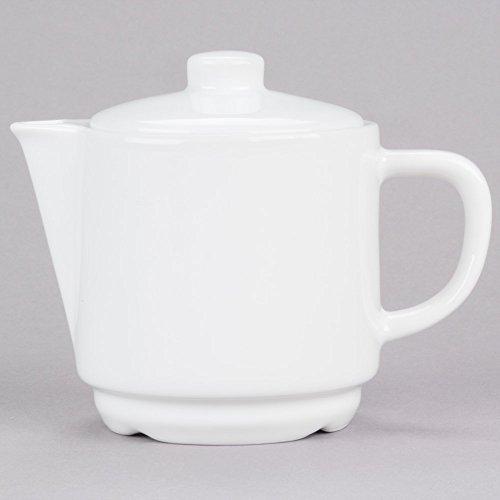 (Cardinal Arcoroc R0819 Candour 15 oz. White Porcelain Stackable Teapot - 8/Case)