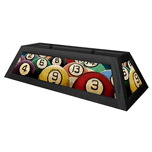 Rack'em Billiard Ball Pool Table Light - Black by KegWorks