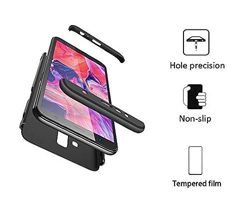 BESTCASESKIN Funda Samsung Galaxy J6 2018, Carcasa Móvil de Protección de 360° 3 en 1 Desmontable con HD Protector de Pantalla Carcasa Caso Case Cover ...