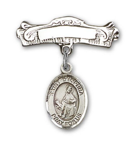 Icecarats Créatrice De Bijoux En Argent Sterling St. Charme Dymphna Broches Badge Arc 7/8 X 7/8