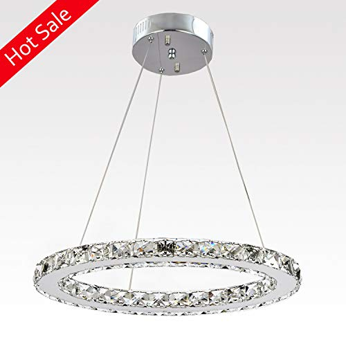 - Ganeed Chandeliers,Crystal Glass Chandelier,Pendant Lighting Ceiling Lights Fixtures for Living Room Bedroom Restaurant Porch Dining Room,One Rings (Dia 11.8