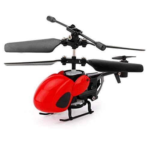 Saikogoods 小型RCフライングヘリコプターUSB赤ちゃんの赤外線コントロール航空機のおもちゃを充電する(色:赤)