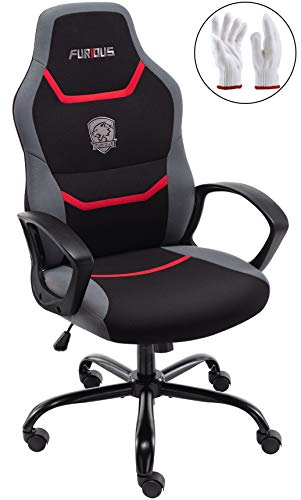 Gaming Chair Racing Style Office Chair Swivel Computer Gamer Chair with Fully Foam, Esports Video Game Chair Lumber Support (Games Chairs)