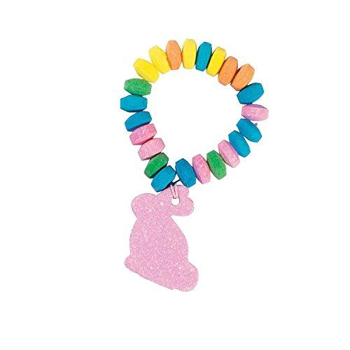 stretchable easter candy bunny bracelets