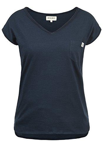 100 Blue Corte Donna Collo Maglietta Insignia T 1991 Desires in Cotone A Maniche con Shirt A Lynn da V p8ZwwYTqx
