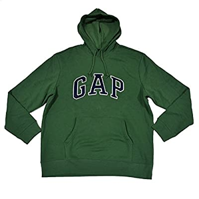 GAP Mens Fleece Arch Logo Pullover Hoodie (Pale Green, Medium)