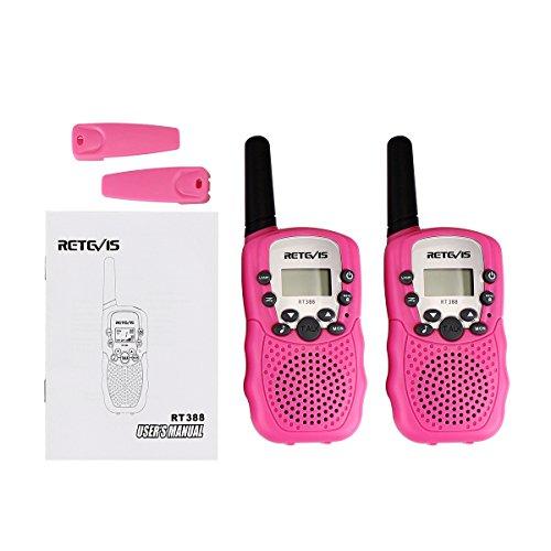 Retevis RT-388 Kids Walkie Talkies 22 Channel FRS Walkie Talkie for Children (Pink, 1 Pair)