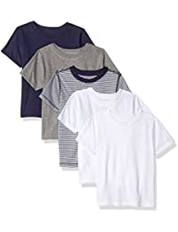 Toddler Kids Set of 5 Organic Crew-Neck Short-Sleeve T-Shirts
