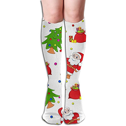 (Futong Huaxia Women's Christmas Eve Sexy Stockings Over The Knee Athletic Unisex Knee High Long Socks)