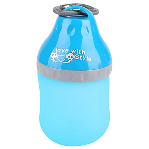 WuKong Portable Pets Kettle Pet Bowl Pet Dog Food Water for Travel, Puppy Drinking Fountains Outdoors (400ml, Blue) by Wukong
