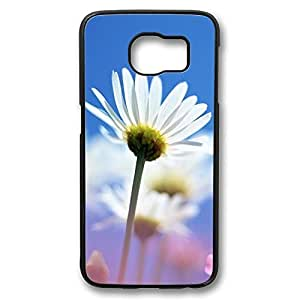 Brian114 Samsung Galaxy S6 Case, S6 Case - Perfect Fit Black Hard Back Case Cover for Samsung Galaxy S6 Bright White Flower Edge Case Impact Protection for Samsung Galaxy S6 Kimberly Kurzendoerfer