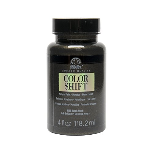 FolkArt Color Shift Acrylic Paint in Assorted Colors (4 oz), 5196 Black Flash