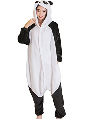 [Unisex Adult Onesie Pajamas Panda Kigurumi Animal Cosplay Halloween Costume Pj M] (Halloween Costumes 2017 For Teens)