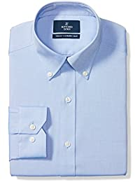 Men's Tailored Fit Solid Non-Iron Dress Shirt (3 Collars...