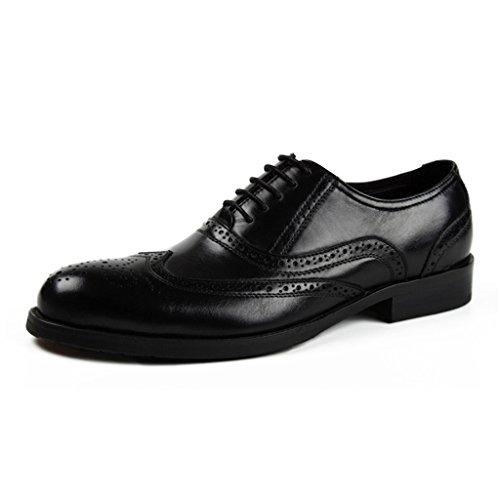 Noir Unique Uk6 Chaussures Hwf De En Vêtements Pointus Pour Hommes couleur Respirant Taille Eu39 Style Cuir rouge Brun Britannique Cérémonie fwq7xHUq