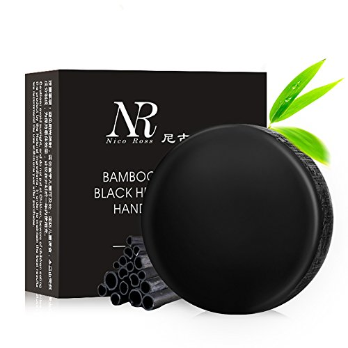 Shouhengda Bamboo Charcoal Handmade Soap Whitening Soap Blackhead Remover Acne Treatment Oil Control
