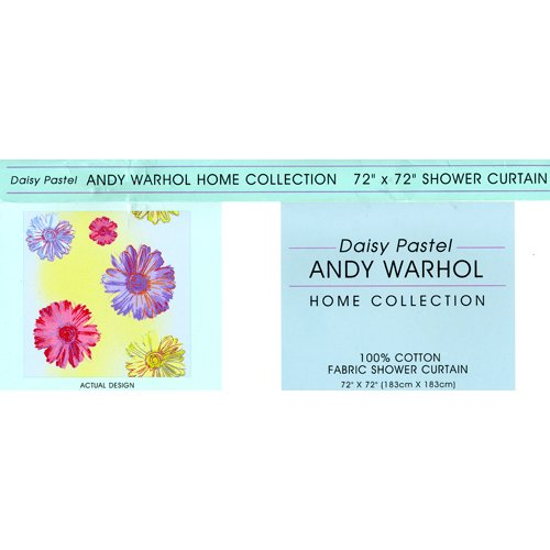 Daisy Pastel Andy Warhol Home Collection Shower Curtain (Warhol Daisy)