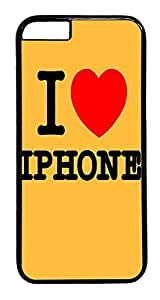 ACESR I Love Iphone iPhone 6 Hard Case PC - Black, Back Cover Case for Apple iPhone 6(4.7 inch)