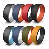 OTAGO Silicone Rings Wedding Bands for Men,8