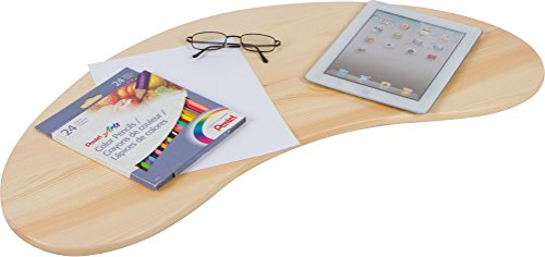 31.5'' Portable Curved Shape Light Wood Lap Desk by Trademark Innovations by Trademark Innovations