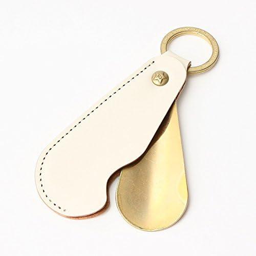 名入れ彫刻無料 携帯靴べら 牛革 シューホーン タイプ1 ブォーノアニリン ホワイト